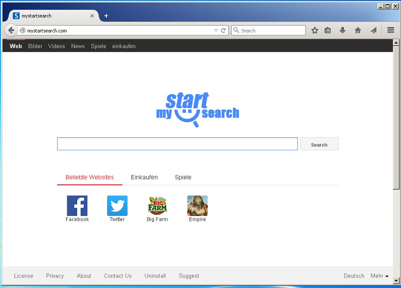 A mystartsearch.com eltávolítása