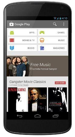 Útjára indult az Android Play Store 4.0