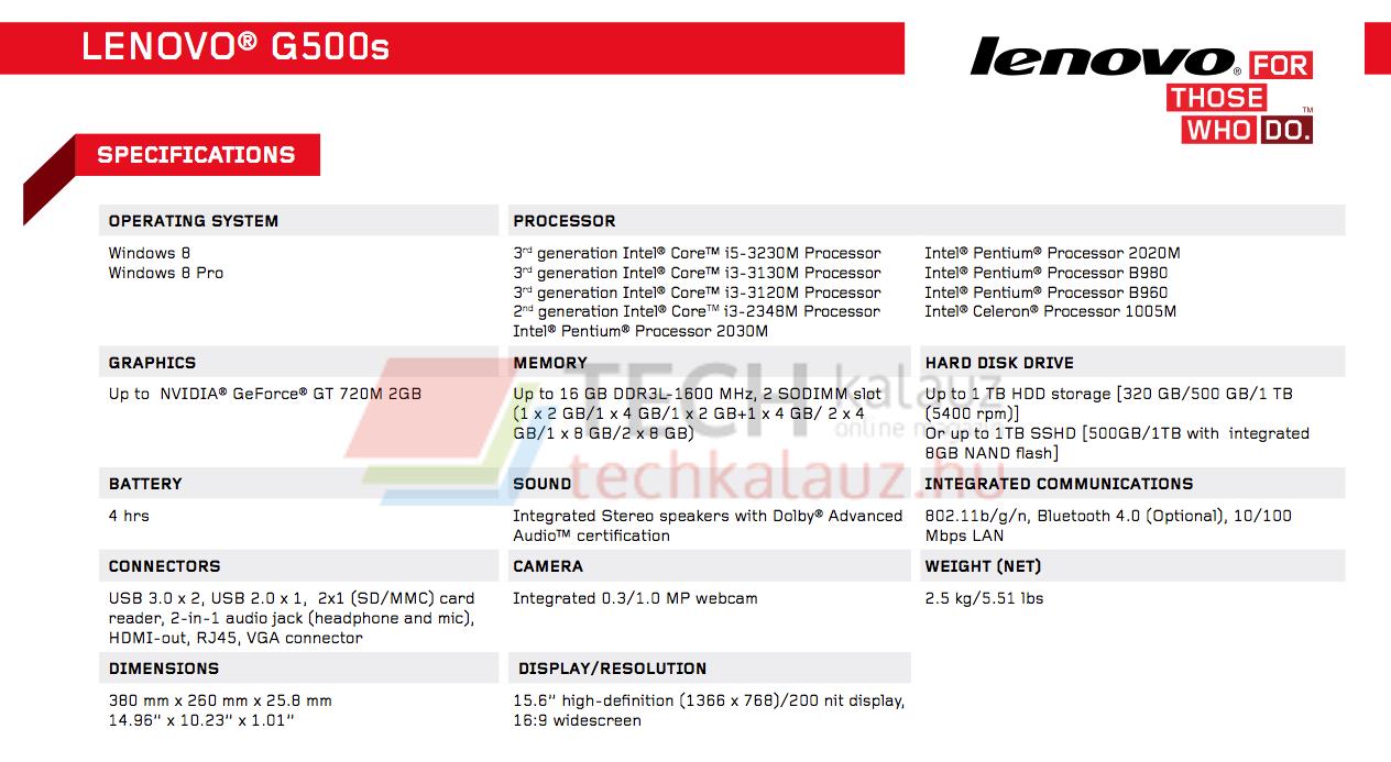 Lenovo IdeaPad G500s vagy G500s Touch?