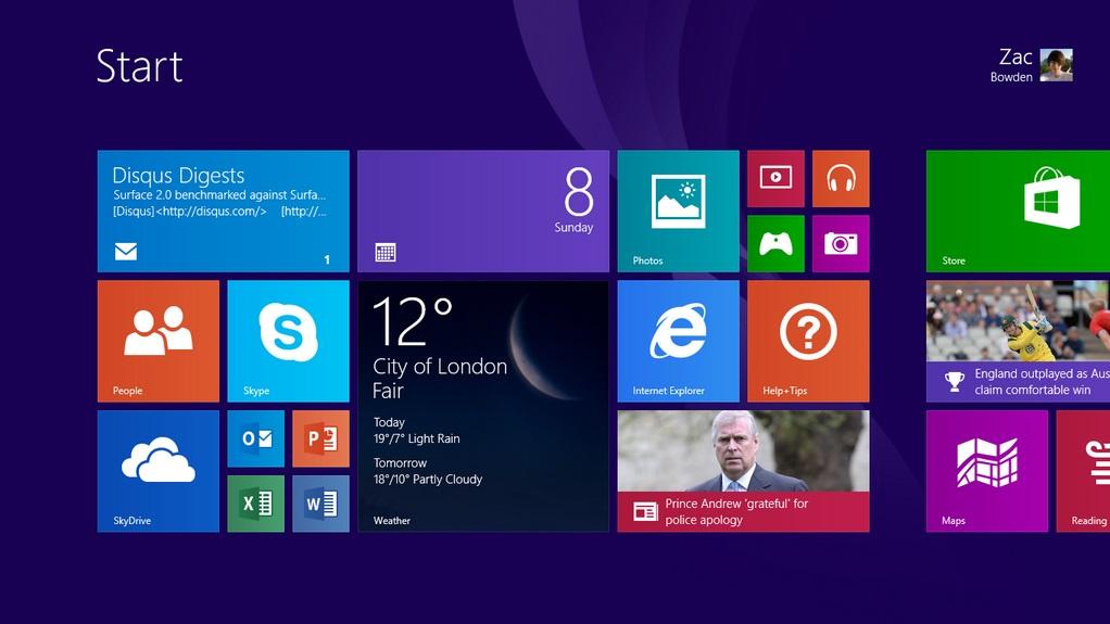 Használati utasítás a Windows 8 és 8.1 operációs rendszerhez
