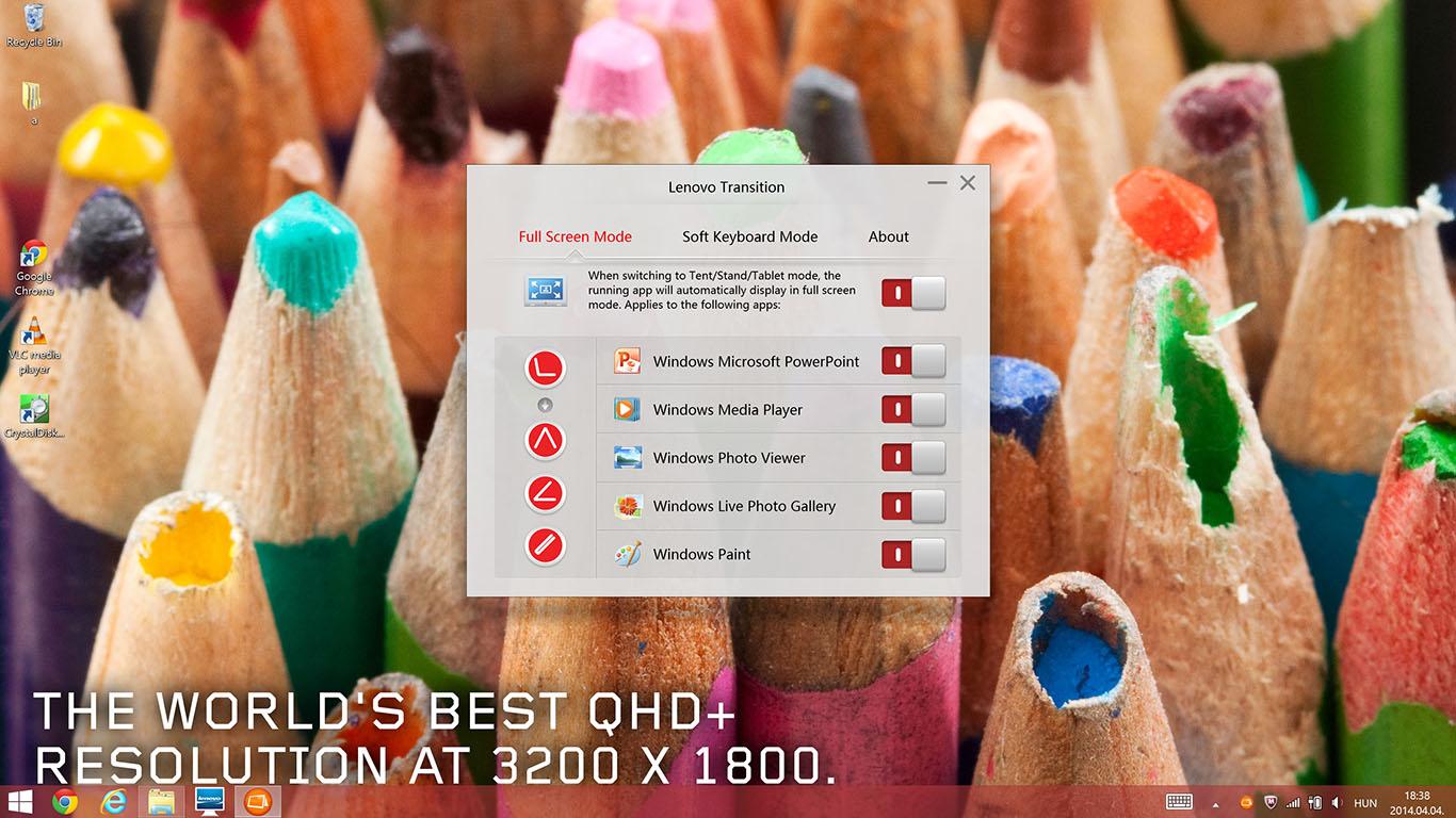 Lenovo Yoga 2 Pro teszt