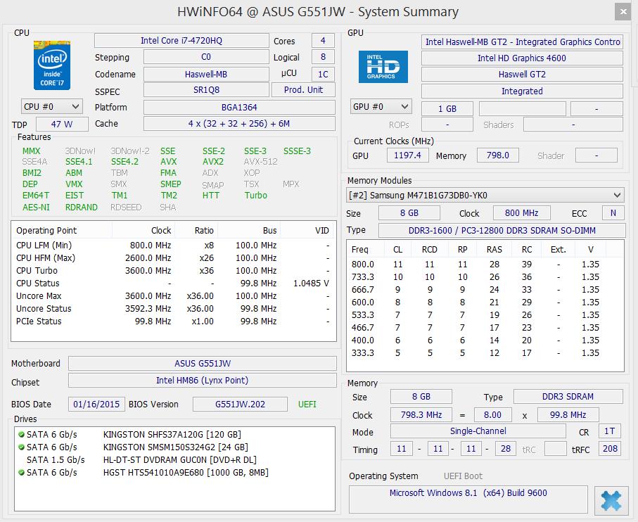 Asus G551JW teszt - GTX 960M és IPS
