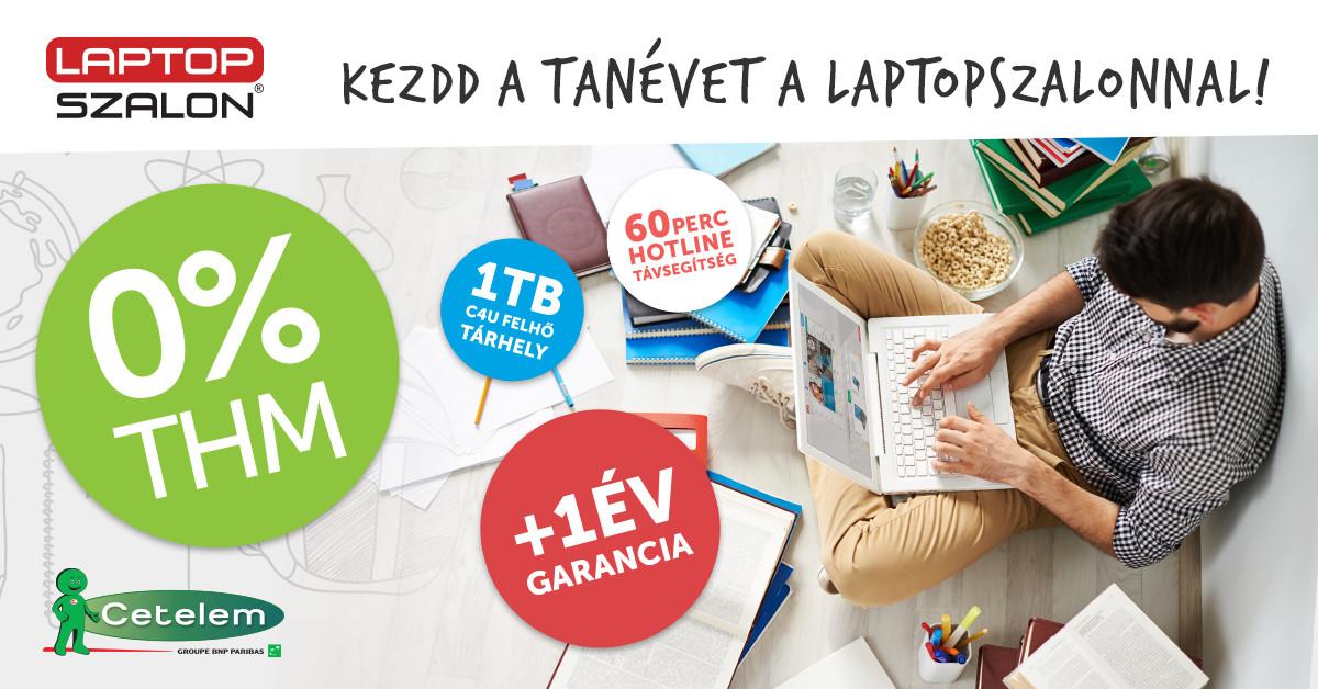 0% THM - Iskolakezdési akció a Laptopszalonnál - Techkalauz 4adc889473