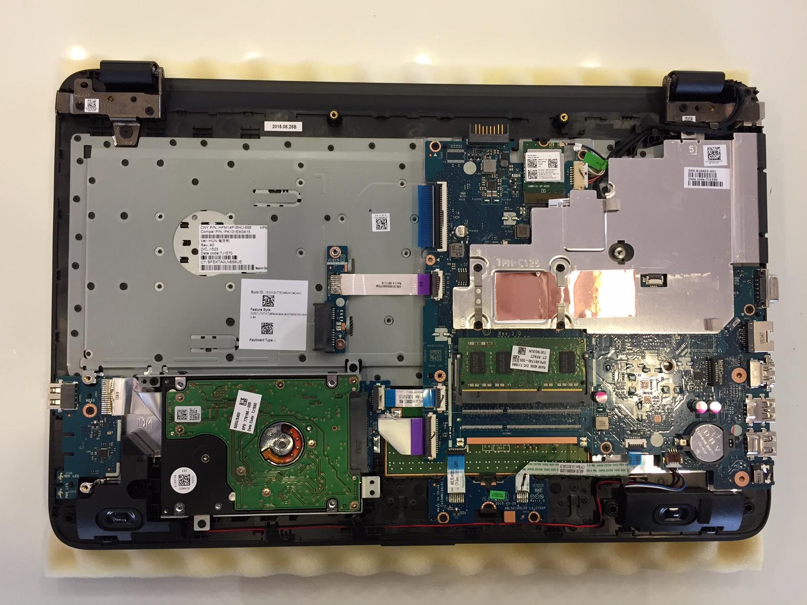 HP 250 G4 teszt