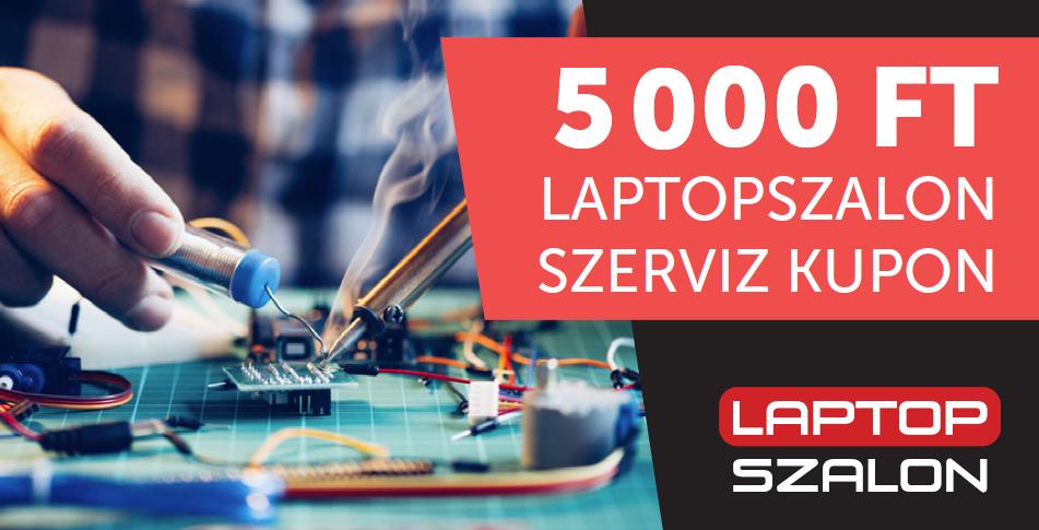 5.000 Ft értékű szervizkupon új laptopod mellé!