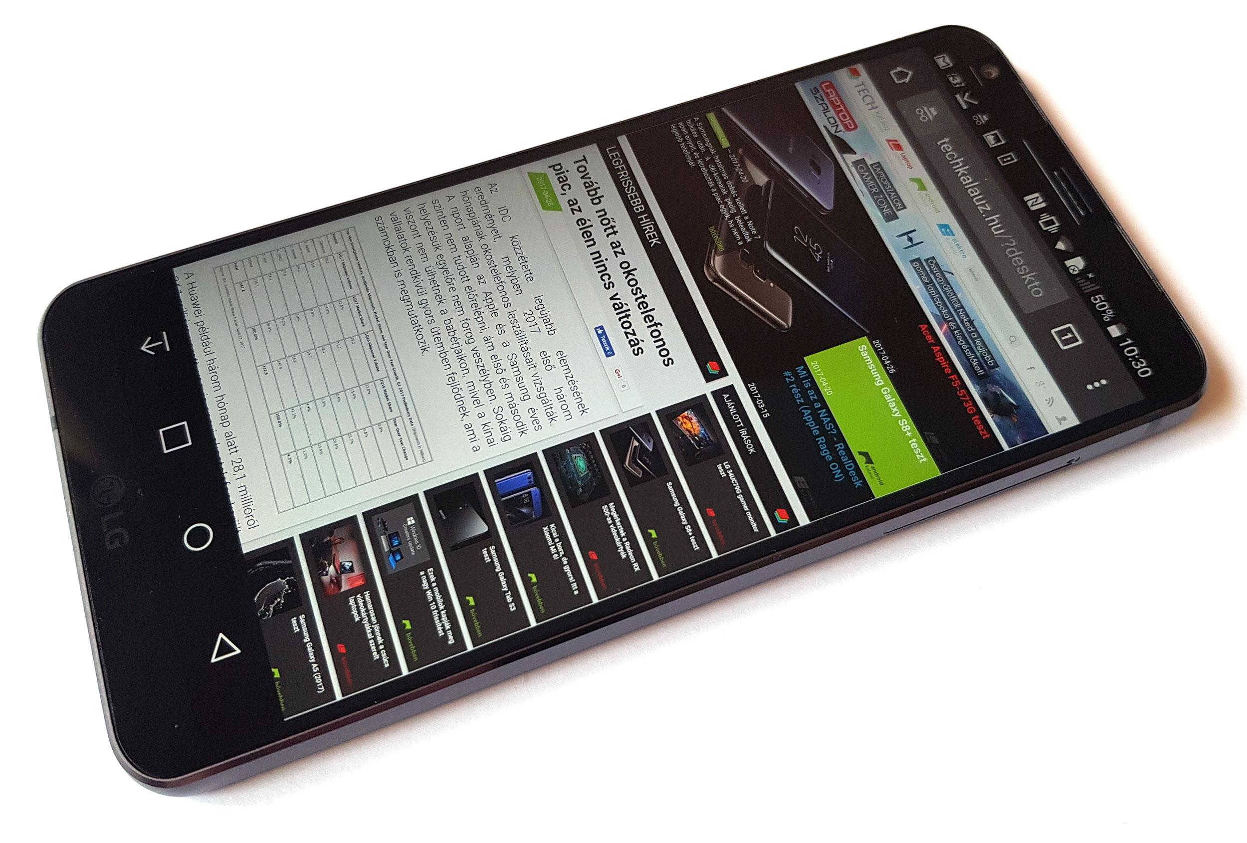 LG G6 teszt
