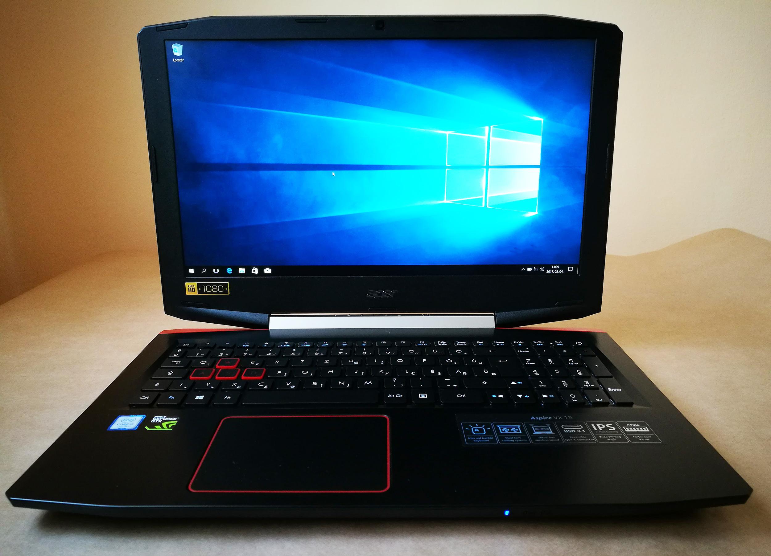 Acer Aspire VX5-591G (VX15) teszt - Techkalauz 0287d46728