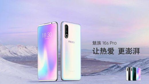 Hivatalos a Meizu 16s Pro – Snapdragon 855+ és Flyme 8 OS