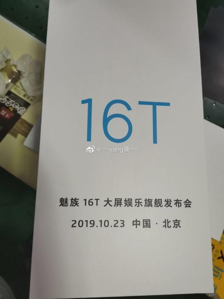 Október 23.-án mutatják be a Meizu 16T-t, hatalmas kijelzővel